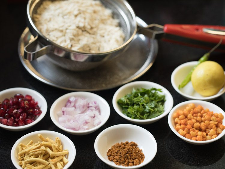 ingredients for making indori poha recipe