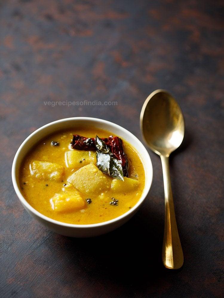 poosanikai sambar recipe