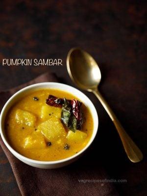 pumpkin sambar recipe