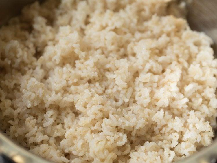 making sesame rice recipe