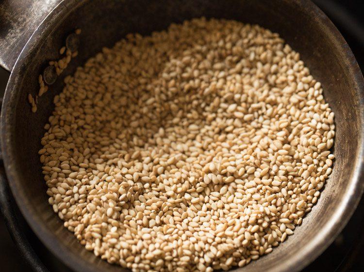 sesame seeds for making sesame rice recipe