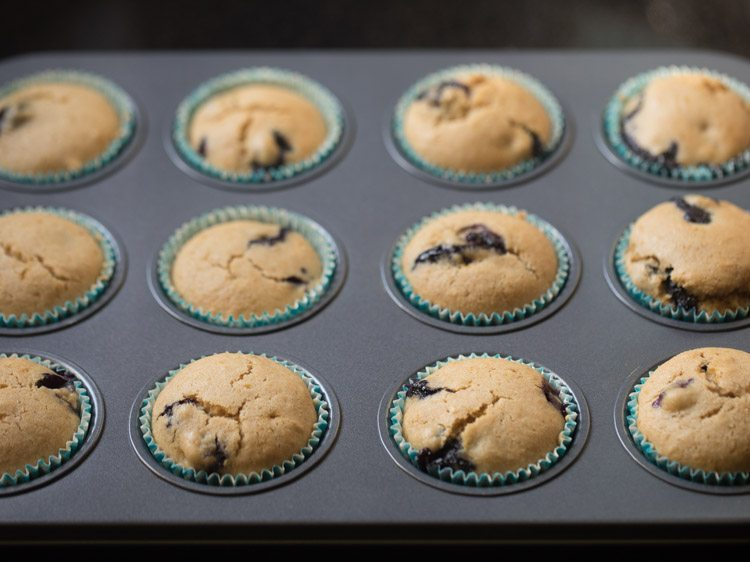 making eggless blueberry muffins recipe
