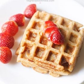 Whole Wheat Waffles Fluffy Whole Wheat Eggless Waffle Recipe