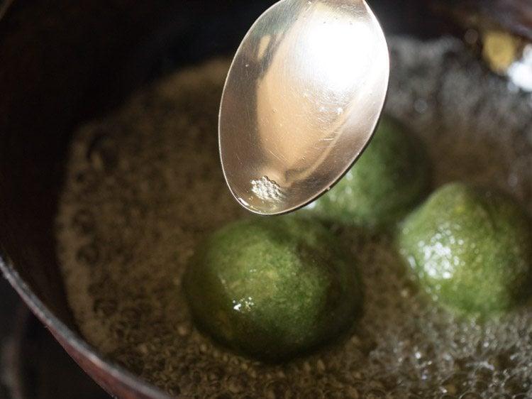 making palak paneer kofta recipe