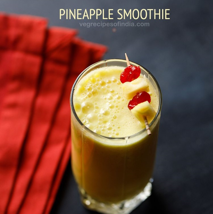 pineapple smoothie recipe, fresh pineapple smoothie recipe