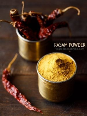 rasam powder recipe, how to make rasam powder | rasam podi