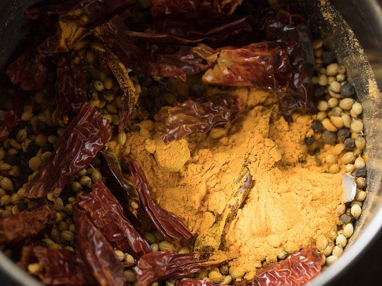 making rasam powder recipe
