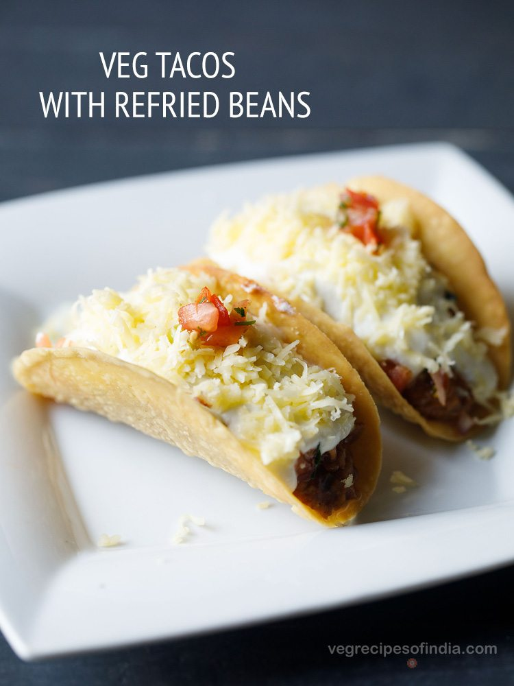 Vegetarian tacos recipe mexican tacos recipe with refried beans forumfinder Images