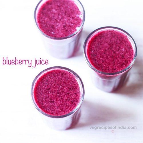 blueberry juice recipe, fresh blueberry juice recipe