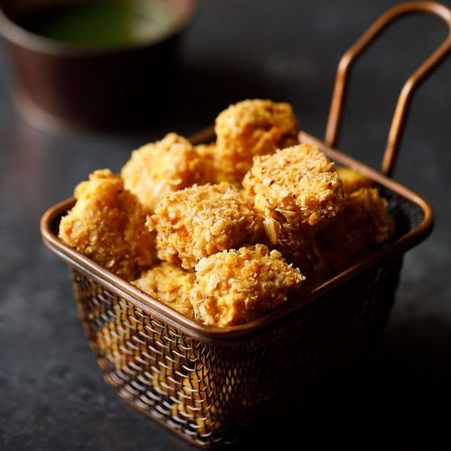 paneer popcorn recipe, paneer nuggets recipe