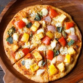 indian paneer pizza recipe