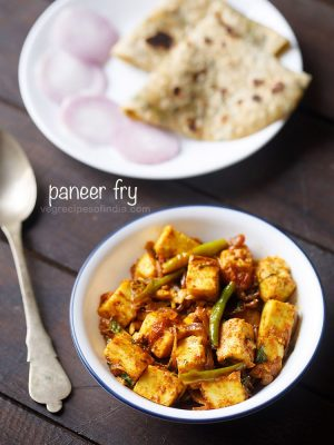 paneer fry recipe, how to make paneer fry recipe | quick paneer recipes