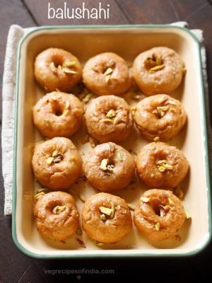 balushahi recipe | badusha recipe | how to make balushahi or badusha recipe