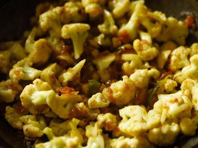 making cauliflower fry recipe