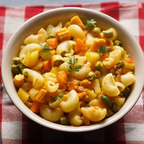 macaroni recipe, indian style macaroni recipe, macaroni pasta recipe
