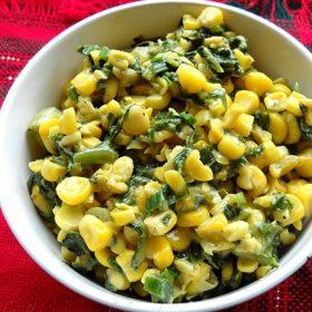 corn palak recipe, corn spinach recipe