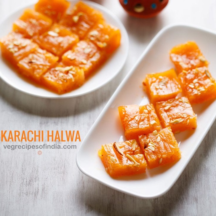 karachi halwa recipe, bombay halwa recipe, corn flour halwa recipe
