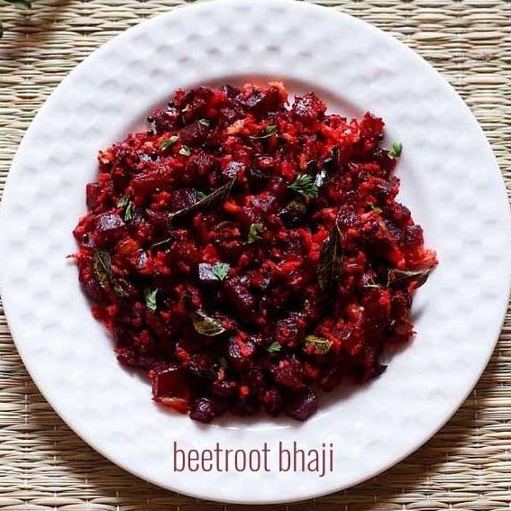 beetroot sabzi recipe, dry beetroot curry recipe, beetroot bhaji recipe