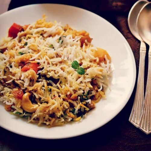 Veg Biryani Recipe Hyderabadi Veg Dum Biryani Vegetable Biryani