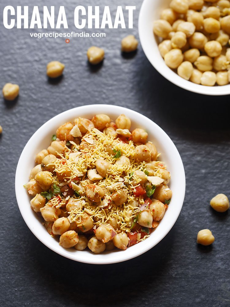 chana chaat recipe: chana chaat, quick chana chaat, kabuli chana chaat