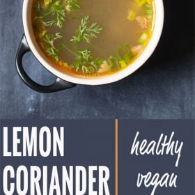 lemon coriander soup