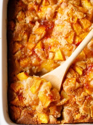 peach cobbler – how to make peach cobber | easy peach cobbler