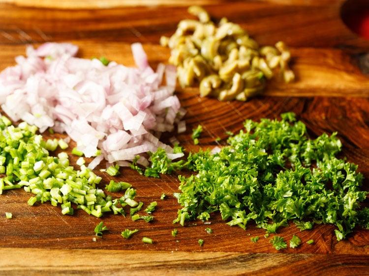 making potato salad