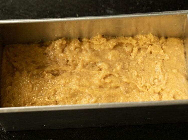 making pumpkin bread