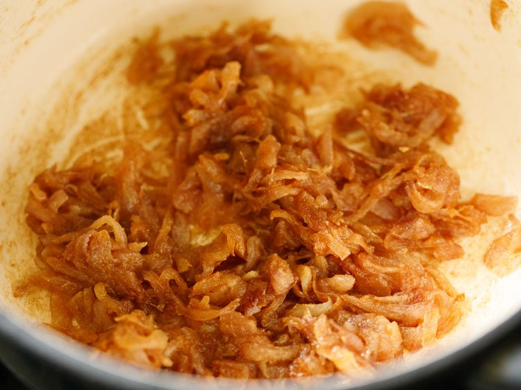 the onions are sauteed for 2 minutes after flour is added
