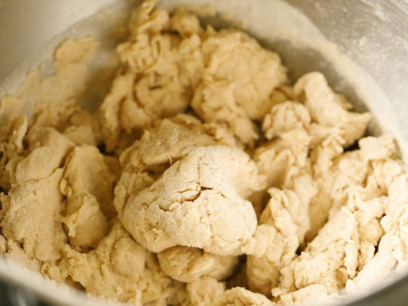 dough being formed