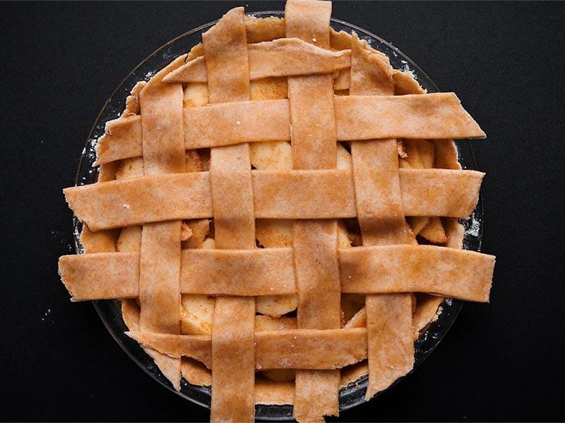 lattice pie crust made on top
