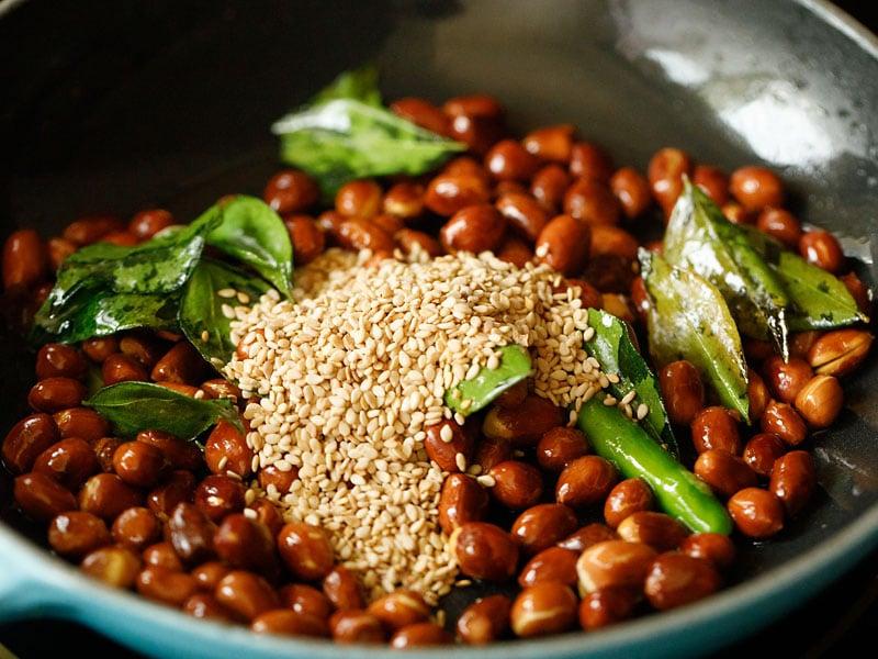 sesame seeds added