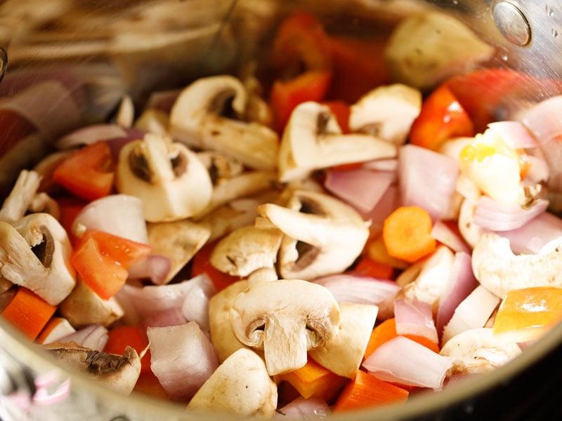 veggies for vegetable stock in stockpot