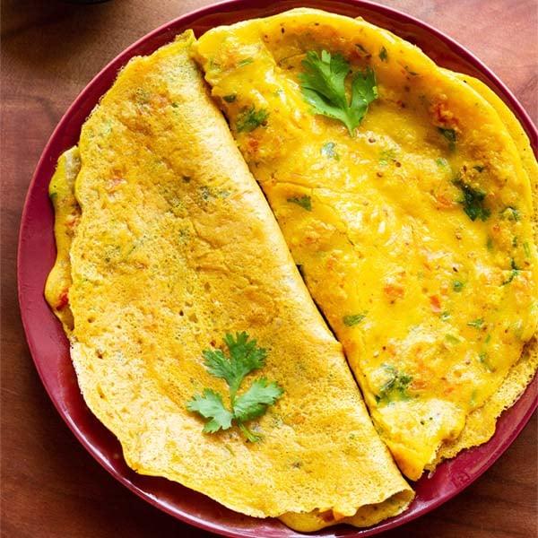 Besan Chilla Recipe (Gram Flour Pancakes) » Dassana's Veg Recipes