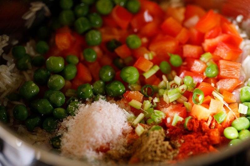 salt added to veggies