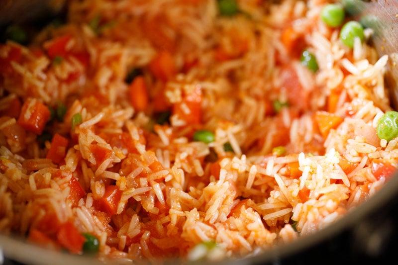 mix the spanish rice mixture