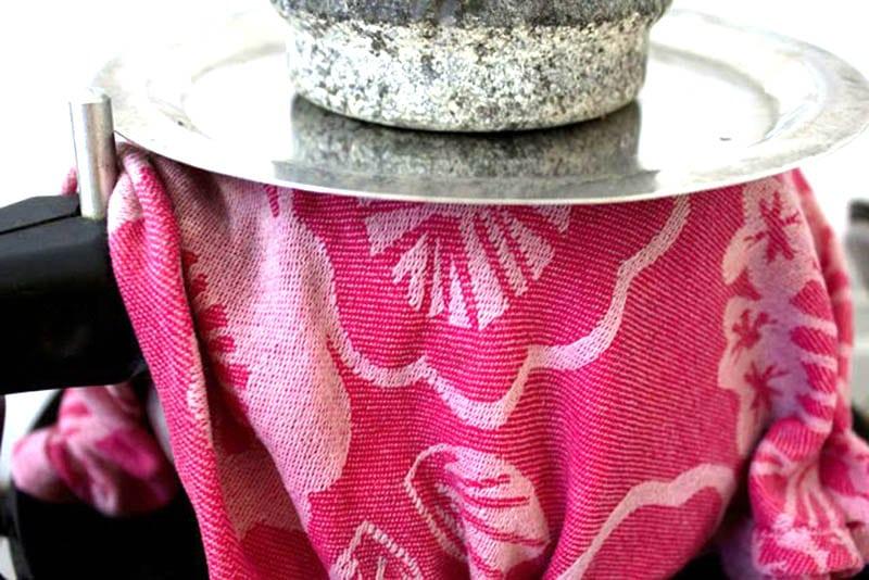 Weight on lid for veg biryani