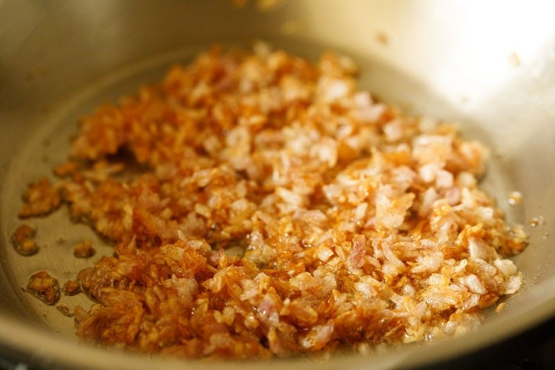 minced onions have become a rich golden brown