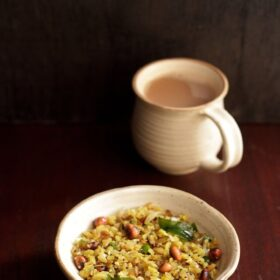 poha recipe in white bowl