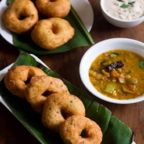 vada recipe on plate with soup