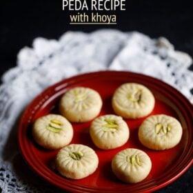 peda recipe on plate